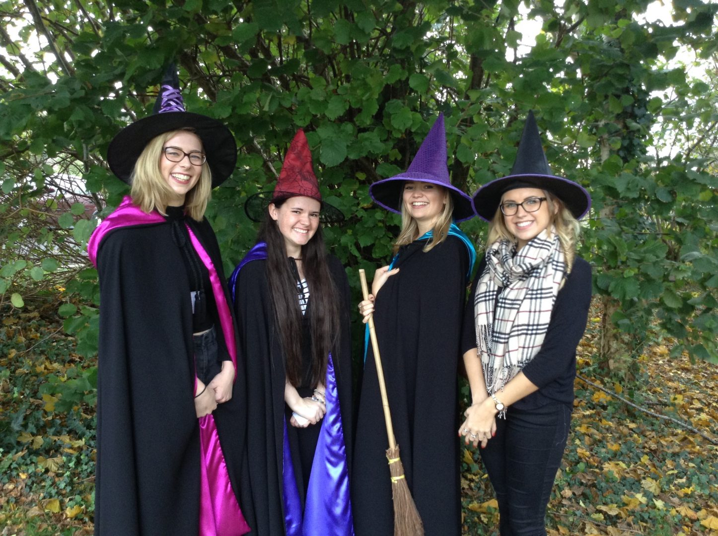The Writing Witches off to Wool Primary School.